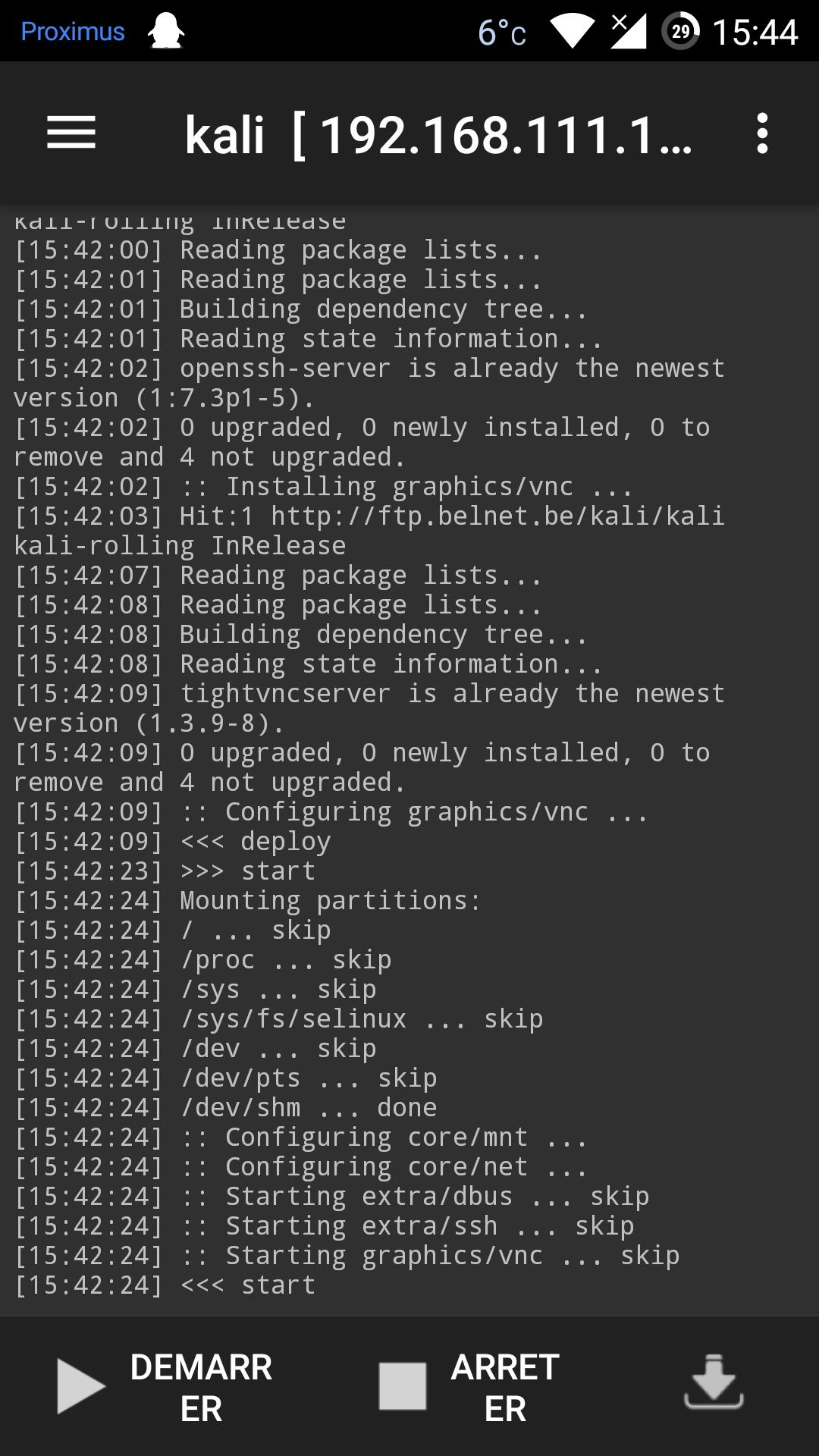 comment installer l'application sur Kali Linux par défaut